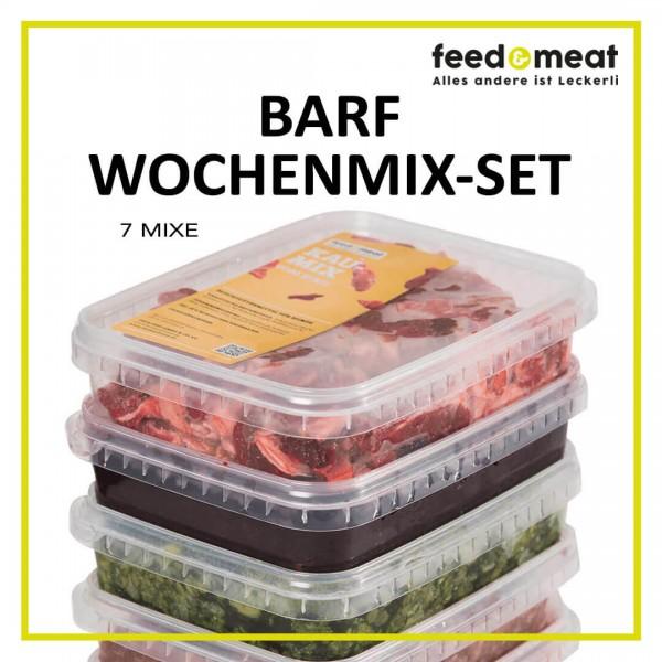 Barf Wochenmix-Set (7 Mixe) 1,5kg gewolft