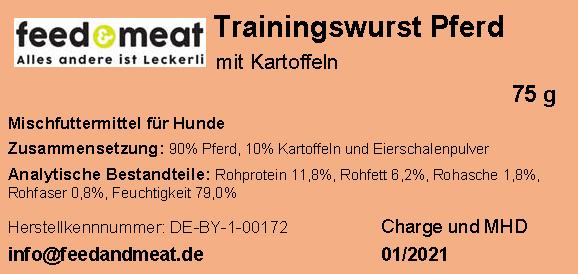 Trainingswurst Pferd