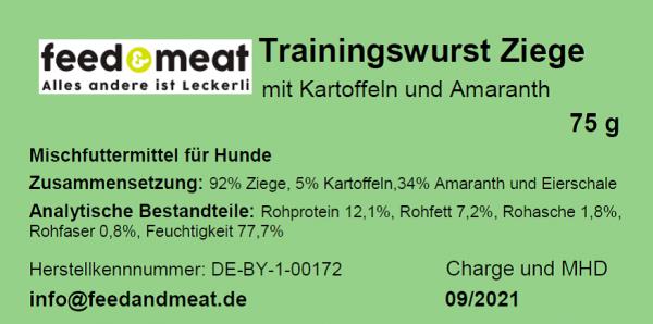 Trainingswurst Ziege