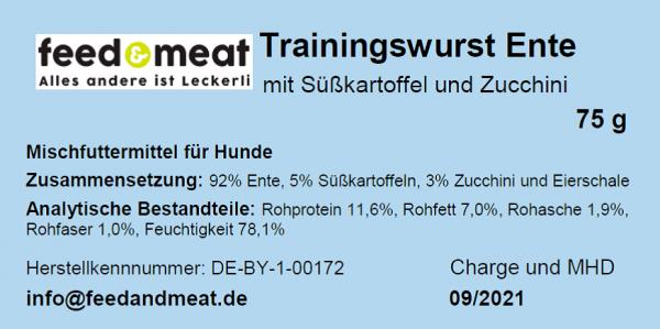 Trainingswurst Ente