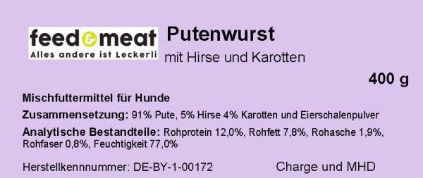Barf-Wurst Pute