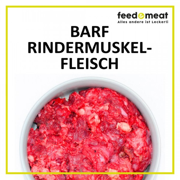 Barf Rindermuskelfleisch gewolft 1 kg