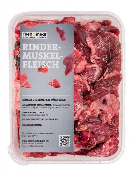 Barf Rindermuskelfleisch stückig 500 g